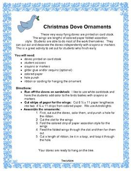 Christmas Dove Ornament