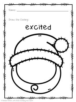 Christmas Draw-A-Feeling Feelings Activity