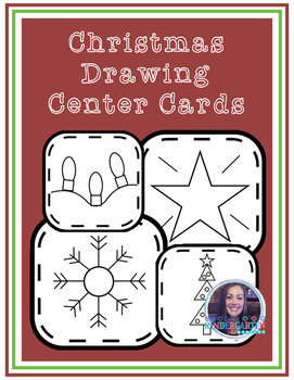 Christmas Drawing Center Cards