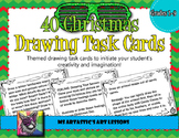 Christmas Art Drawing Task Cards or Sketchbook Prompts