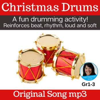 Christmas Song & Drum Activity | Drumming Gr1-3 | Original Song mp3 Only