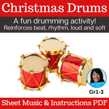 Christmas Song & Drum Activity | Drumming | PDF - Sheet Music & Instructions
