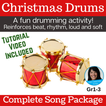 Christmas Song & Drum Activity | Drumming | Holiday | mp3s, PDF, SMART & Video