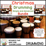 Christmas Drumming Simple and Advanced Rhythm Bundle