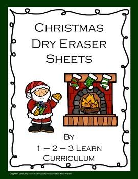 Christmas Dry Eraser Sheets
