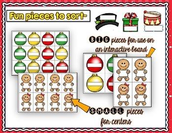 Christmas *EDITABLE* Make-Your-Own Sorting Centers
