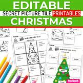 Christmas EDITABLE Secret Picture Tile Printables