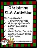 Christmas ELA Activities- NO PREP!