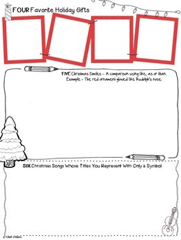 Christmas Writing - 12 Quick ELA Christmas Activities