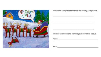 3rd Grade Silly Christmas Images Activity: Reading and Language Arts Skills