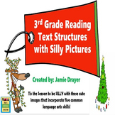 3rd Grade Silly Christmas Images Activity: Reading and Lan