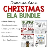 December ELA Bundle Common Core Aligned for Grades 4-8