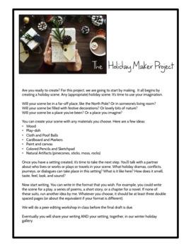 Christmas ELA Maker Space Creative Writing Project