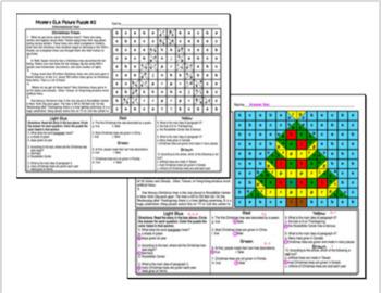 Christmas ELA Mystery Puzzles Grade 4 Edition