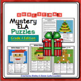 4th Grade Christmas Color by Code ELA Mystery Pictures: Fo