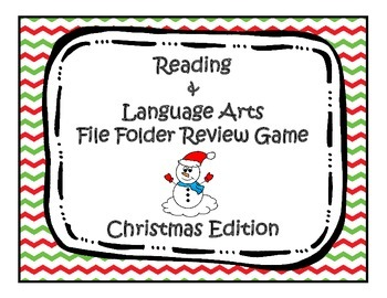 Christmas ELA Review File Folder Game
