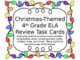 Christmas ELA Review Task Cards- 4th grade