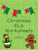 Christmas ELA Worksheets