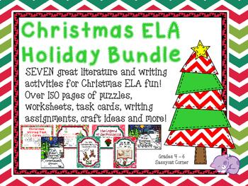 Christmas ELA Writing and Short Story Bundle