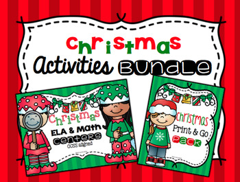 Christmas ELA and Math Activities Bundle