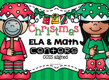 Christmas ELA and Math Centers {CCSS Aligned}