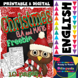 Christmas ELA and Maths Freebie for little kids (10 pages)