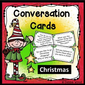 Conversation Cards:  Christmas (Includes Directions for Mingle Activity)