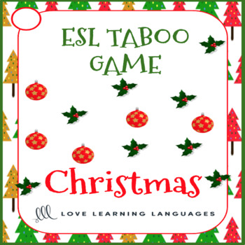 Christmas - ESL - ELL Taboo Speaking Game