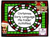 Christmas Early Language File Folder Activities