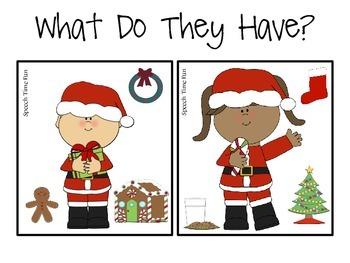 Christmas Early Language File Folder Activities