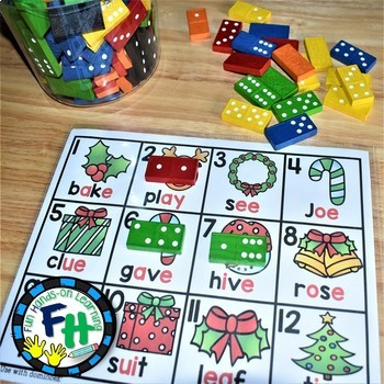 Christmas Early Learners Math & Literacy Activity Centers {LEVEL A}