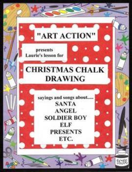 "Christmas ""Easy Art"" Chalk Drawing"