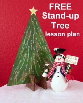 "Christmas ""Easy-Art"" Stand-up Christmas Trees-FREE"