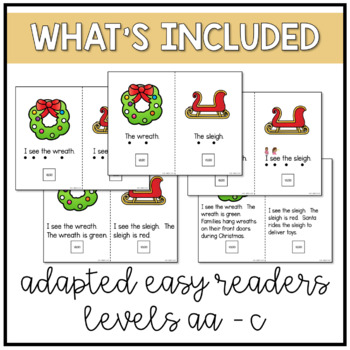 Christmas Easy Reader Adapted Book and Activities