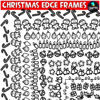 Christmas Edge Frames Clip Art Bundle {Educlips Clipart}