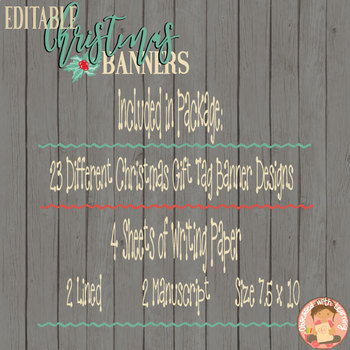 Christmas (Editable) Banners