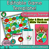 Christmas Editable Game Template