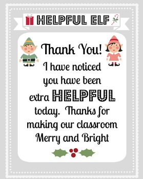 Christmas:  Editable gift tags, thank you cards, banner, and certificate