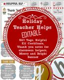 Christmas:  Editable gift tags, thank you cards, banner, a