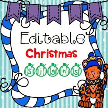 Christmas - Editable Center Signs
