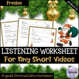 Christmas Edition:Ted Talk/Video Worksheet - Response to t