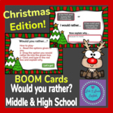 Christmas Edition Would You Rather? BOOM Cards