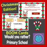 Christmas Edition Would You Rather For Primary BOOM Cards