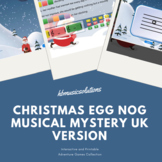 Christmas Egg Nog Musical Mystery and Extension Writing Ta