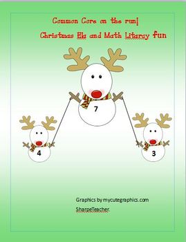 First Grade Second Grade Christmas Ela Math printable worksheets