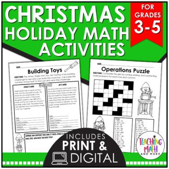 Christmas Elementary Math Activities