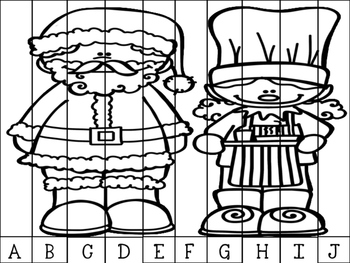 Christmas Elf Alphabet Puzzles: Letter Recognition and Sequencing
