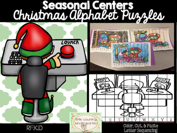 Alphabet Puzzles: Christmas Elf Letter Recognition and Sequencing