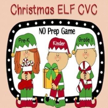 Christmas Elf CVC Word Work Game {NO PREP}