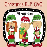 Christmas Elf CVC Word Work Game {NO PREP}